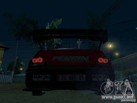 Mitsubishi Lancer Evo9 Wide Body 2 para GTA San Andreas vista posterior izquierda