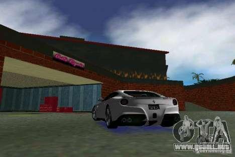 Ferrari F12 Berlinetta para GTA Vice City visión correcta