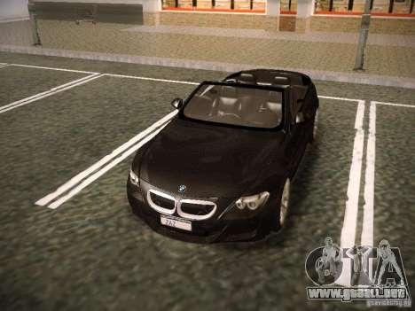 BMW M6 para vista inferior GTA San Andreas