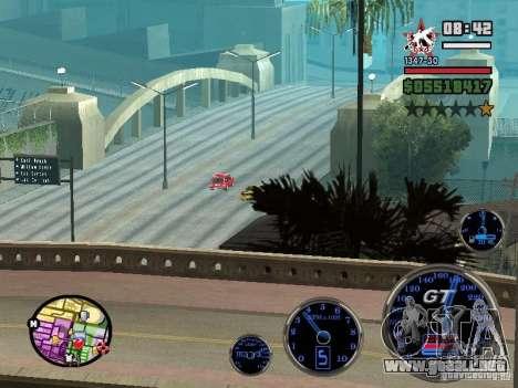 Speedometer GT para GTA San Andreas quinta pantalla