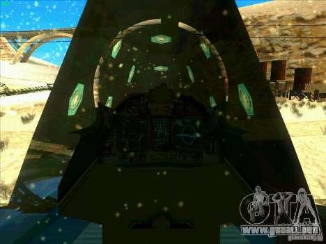 ADF-01 Falken para vista lateral GTA San Andreas