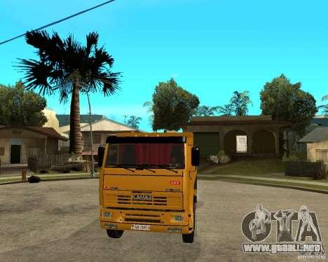 KAMAZ 6520 TAI para GTA San Andreas vista hacia atrás