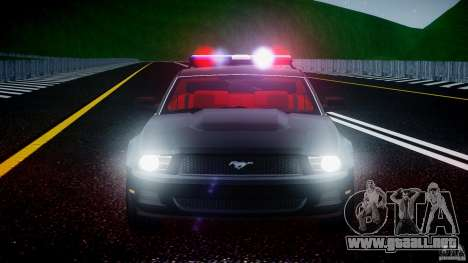 Ford Mustang V6 2010 Police v1.0 para GTA 4 vista desde abajo