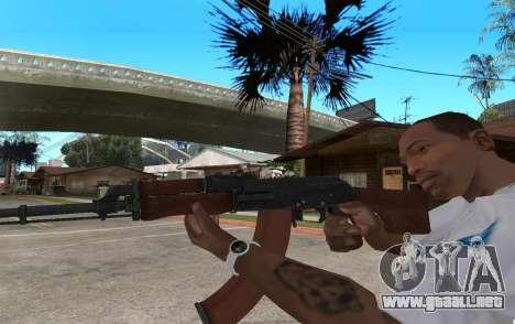 El RPK-74 para GTA San Andreas segunda pantalla
