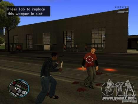 GTA IV TARGET SYSTEM 3.2 para GTA San Andreas octavo de pantalla