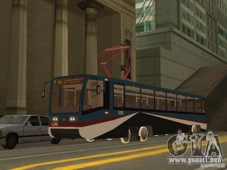 El nuevo tranvía para GTA San Andreas sucesivamente de pantalla