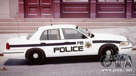 Ford Crown Victoria FBI Police 2003 para GTA 4 vista superior