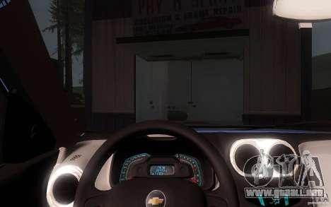 Chevrolet Agile 2012 para visión interna GTA San Andreas
