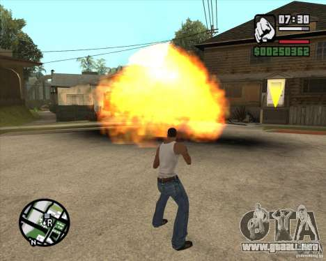 Explosión para GTA San Andreas