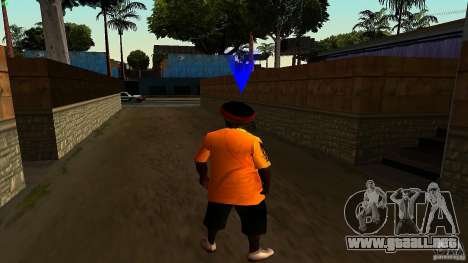 Jamaican Guy para GTA San Andreas sucesivamente de pantalla
