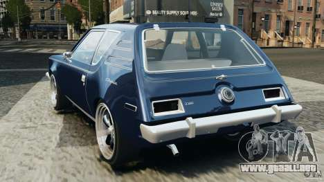 AMC Gremlin 1973 para GTA 4 Vista posterior izquierda