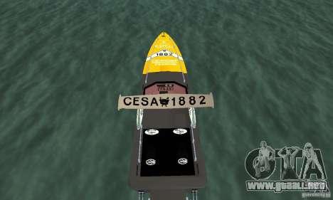 Cesa Offshore para GTA San Andreas vista hacia atrás