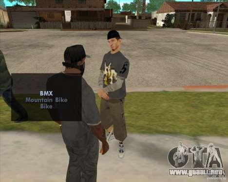 Comprar una botella de la arboleda para GTA San Andreas segunda pantalla
