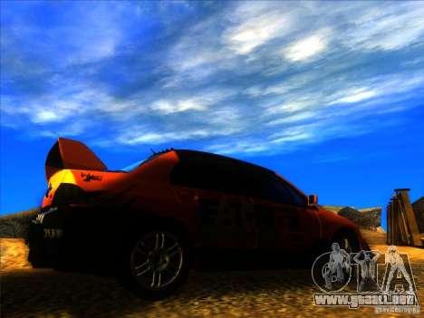 Mitsubishi Lancer Evolution IX MR para la visión correcta GTA San Andreas