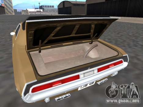 Dodge Challenger 440 Six Pack 1970 para visión interna GTA San Andreas