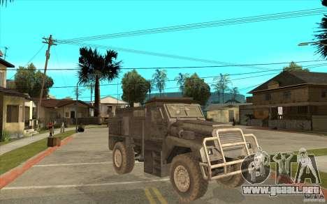 Military Truck para visión interna GTA San Andreas