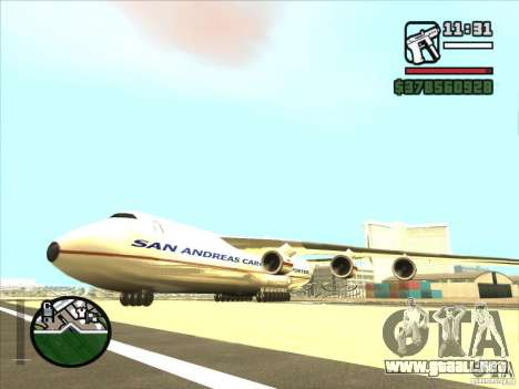 Antonov an-225 para GTA San Andreas left