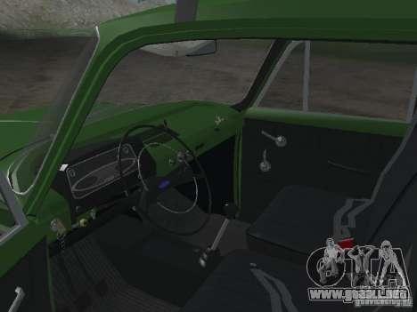 IZH 412 v3.0 para GTA San Andreas vista hacia atrás
