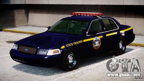 Ford Crown Victoria New York State Patrol [ELS] para GTA 4 left
