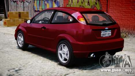 Ford Focus SVT para GTA 4 vista lateral