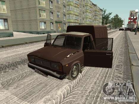 IZH 27175 Winter Edition para GTA San Andreas vista hacia atrás