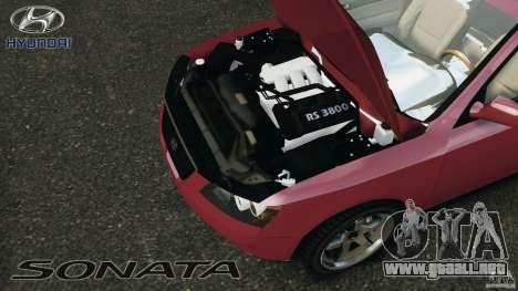 Hyundai Sonata v1.0 para GTA 4 vista hacia atrás