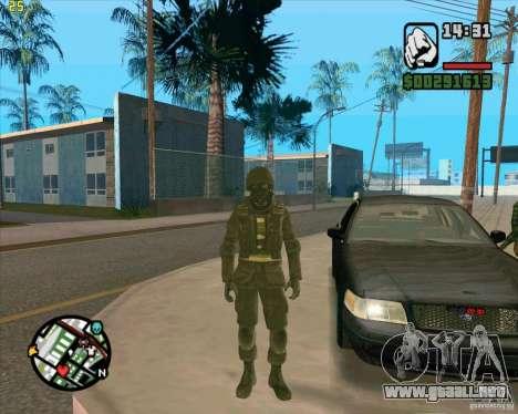 Piel SAS para GTA San Andreas tercera pantalla