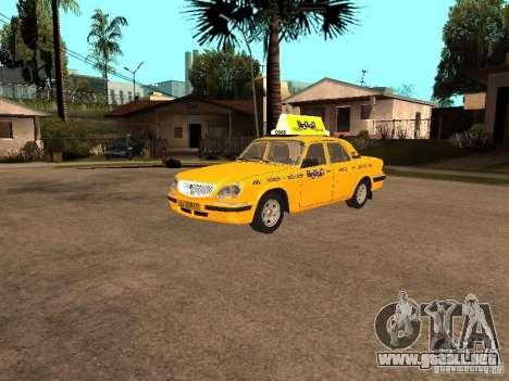 Volga GAZ-31105 Taxi para GTA San Andreas vista hacia atrás