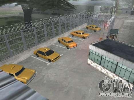 El primer taxi Parque versión 1.0 para GTA San Andreas tercera pantalla