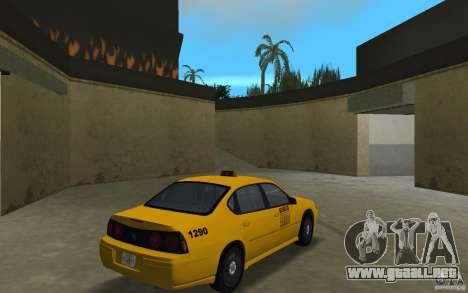 Chevrolet Impala Taxi para GTA Vice City visión correcta