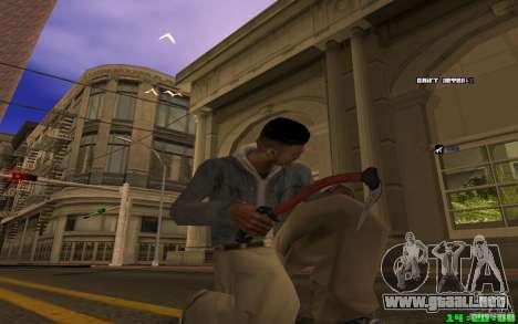 Para romper el hielo (rojo) para GTA San Andreas tercera pantalla