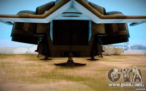 BTR-20 Yastreb para GTA San Andreas vista posterior izquierda