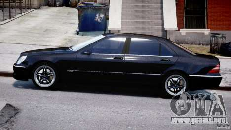 Mercedes-Benz W220 para GTA 4 left