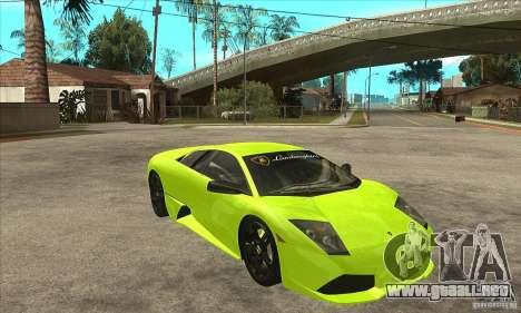 Lamborghini Murcielago LP640 para visión interna GTA San Andreas