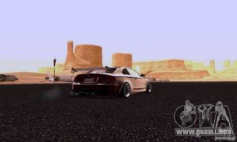 BMW 135i para GTA San Andreas vista posterior izquierda