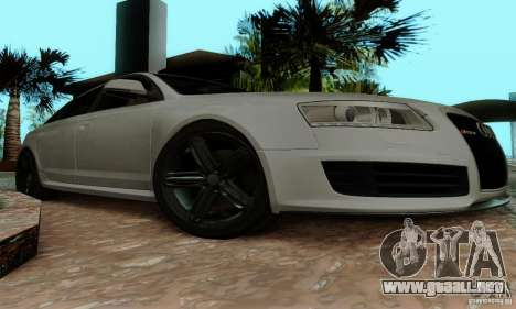 Audi RS6 2009 para visión interna GTA San Andreas