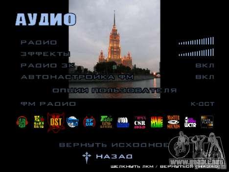Pantalla de arranque de Moscú para GTA San Andreas séptima pantalla