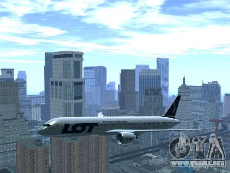 Boeing 787-9 LOT Polish Airlines para vista inferior GTA San Andreas