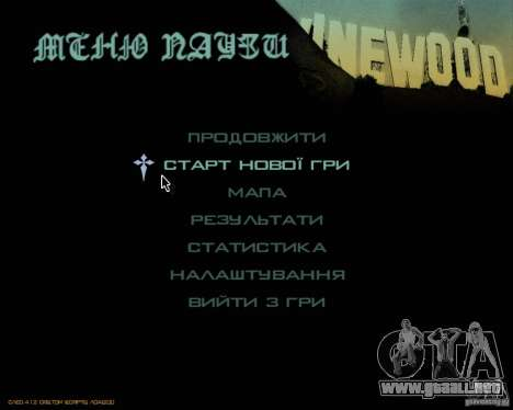 Ukraïnizator 2.0 para GTA San Andreas segunda pantalla