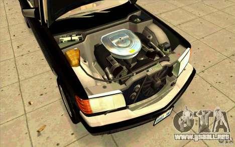 Mercedes Benz 560SEL w126 1990 v1.0 para la visión correcta GTA San Andreas