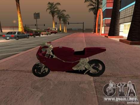 Turbine Superbike para GTA San Andreas vista posterior izquierda