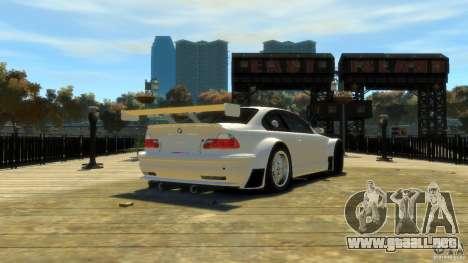 BMW E46 M3 GTR Sport para GTA 4 Vista posterior izquierda