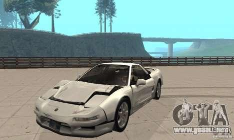 Acura NSX 1991 para visión interna GTA San Andreas