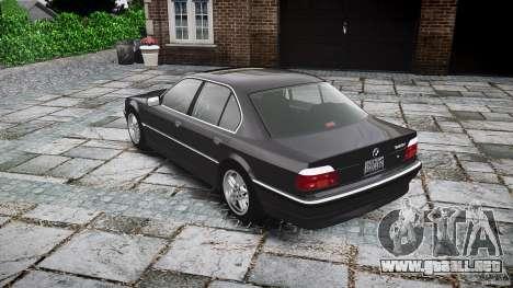 BMW 740i (E38) style 37 para GTA 4 vista lateral