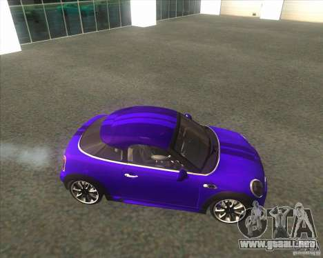 Mini Coupe 2011 Concept para GTA San Andreas left