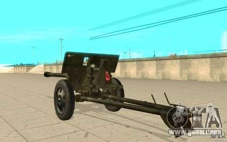 La pistola ZiS-3 para GTA San Andreas vista posterior izquierda