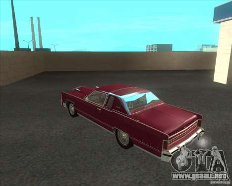 Lincoln Continental Town Coupe 1979 para GTA San Andreas vista posterior izquierda