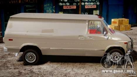 Chevrolet G20 Vans V1.1 para GTA 4 vista hacia atrás