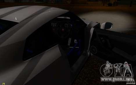 Nissan GTR R35 Spec-V 2010 para la vista superior GTA San Andreas
