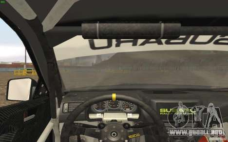 Subaru Impreza WRX Gymkhana2 Beta para GTA San Andreas vista hacia atrás